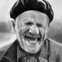 Ejercicio Krita B&W - Anciano