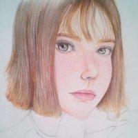 Dibujo Rostro de chica Hermosa - mirada profunda