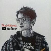 Ezra Miller, dibujo con bolígrafo