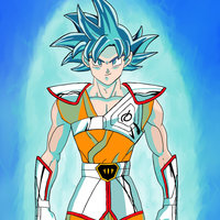 Goku de pegaso fan art