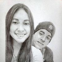 retrato  grafito - pareja 2