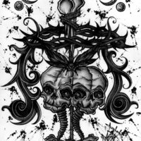 Diseño gótico (blackwork)