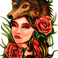 Dama de lobo (Neo tradicional)