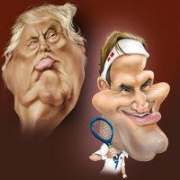Caricaturas de famosos
