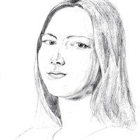Estudios realistas - cabeza de mujer - manos y brazos de mujer