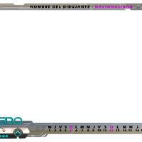 Marco calendario DIBUJANDO.net 2020 - BLANCO
