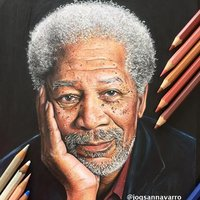 DIBUJO DE MORGAN FREEMAN