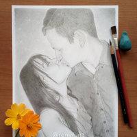 Beso - Retrato de pareja