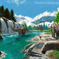 Jurassic landscape/paisaje jurassico