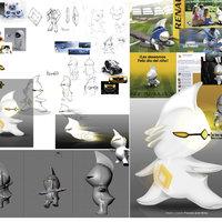 Creación de Personaje 2D y 3D para Renault