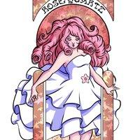 Rose Quartz Art Nouveau