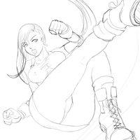 Tifa fanart sketch