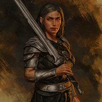 Half-Elf female fighter