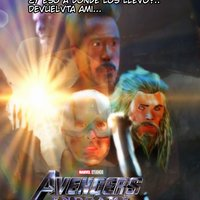 endgame: iron man,capitan america y thor vs thanos(fan art)