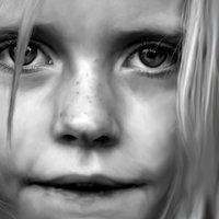 retrato de niña realista