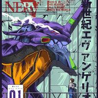 Evangelion Poster - EVA 01
