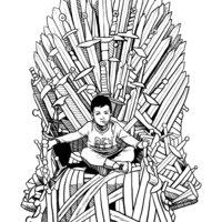 En el trono