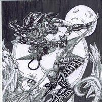 La bruja y la luna