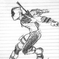 dibujo rapido Deadpool