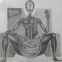 Extraterrestre en su trono (en proceso)
