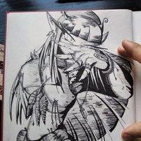 Diseño de personaje- Elfa de la naturaleza