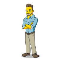 Personaje Simpson y Caricatura