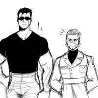 Gerd joven y Comandante  TIra sketch