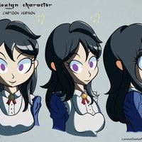 Lari-chan Cartoon Version - Practica Crehana