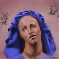 Mujer llorando retrato