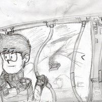 Práctica bocetos soldados