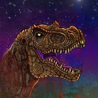 Dinosaurio viendo su vida pasar
