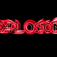 tipografía explosión