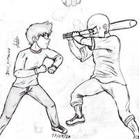 Practica posición pelea