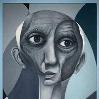 Retrato cubista de Picasso al óleo (@KizokuART)