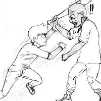 Práctica personaje posición y movimientos de pelea