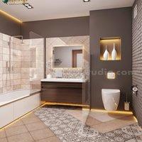 Diseño de interiores de estilo de baño contemporáneo para el hogar por Architectural