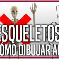 Esqueletos : cómo dibujar anatomía fácil, cuerpo humano