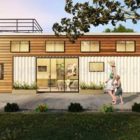 Servicios populares de representación exterior 3D de casas de contenedores de envío p