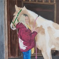 Two sweet girl in the Serendipity Stables
