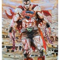 Superman Future State en Acuarelas.