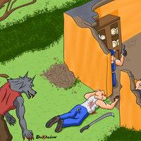 3 cerdos vs lobo