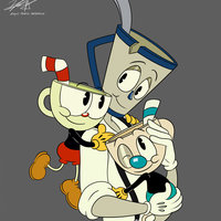 FAMILY (Cuphead, Mugman & Mr Earl Grey)