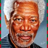 Retrato Morgan Freeman
