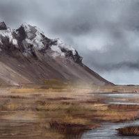 Color Study: Iceland landscape nº 2