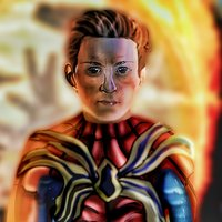 iron spider regresa-dibujo digital.