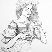 Criadora del reptil