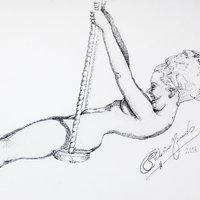 Mujer Pin up puntillista
