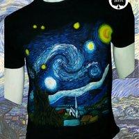 Noche Estrellada - Van Gogh - Camiseta