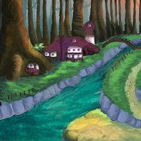 El bosque de los elfos // Ilustración en photoshop