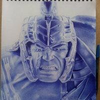 Retrato de hulk a bolígrafo